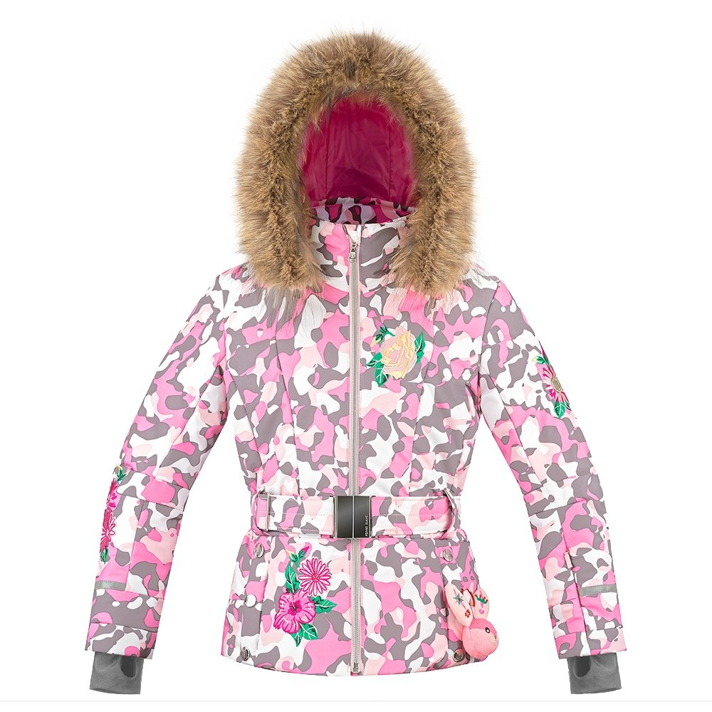 Poivre Blanc Duchess Insulated Ski Jacket with Faux Fur (Girls') - Pink/Camo