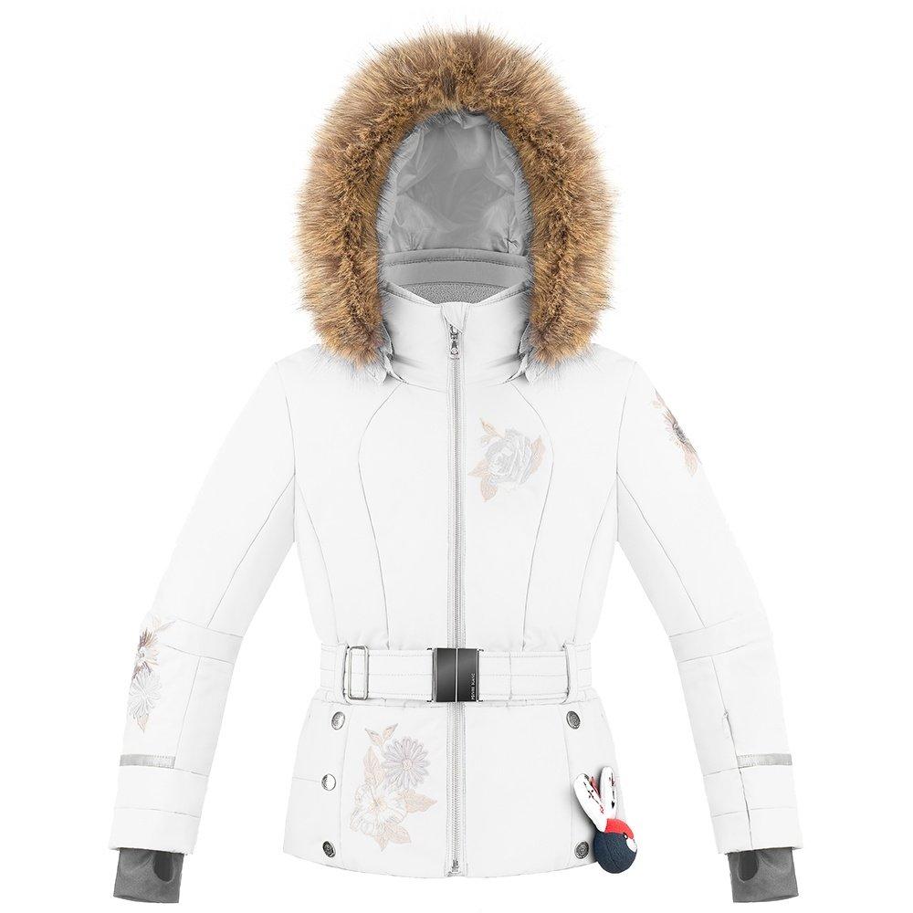 Poivre Blanc Duchess Insulated Ski Jacket with Faux Fur (Girls') - Fancy White