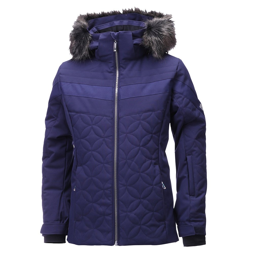 Descente Sami Insulated Ski Jacket (Girls') - Dark Night Shiny Stretch