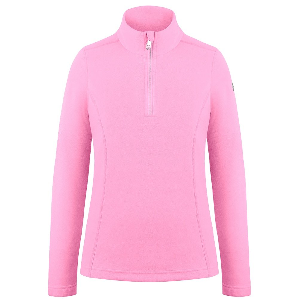 Poivre Blanc Sweet Pea 1/4 Zip Fleece Mid Layer (Girls') - Fever Pink