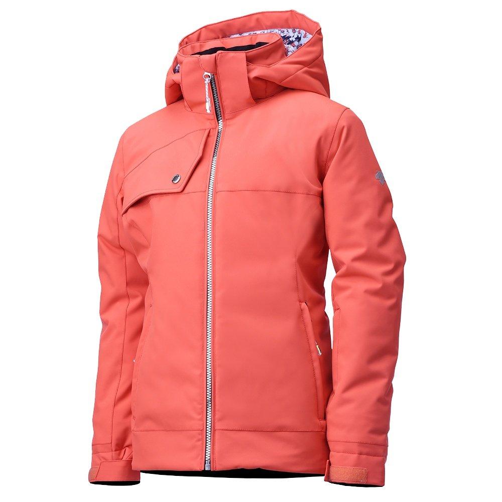 Descente Khloe Insulated Ski Jacket (Girls') - Poppy/Blue Sakura Blossom