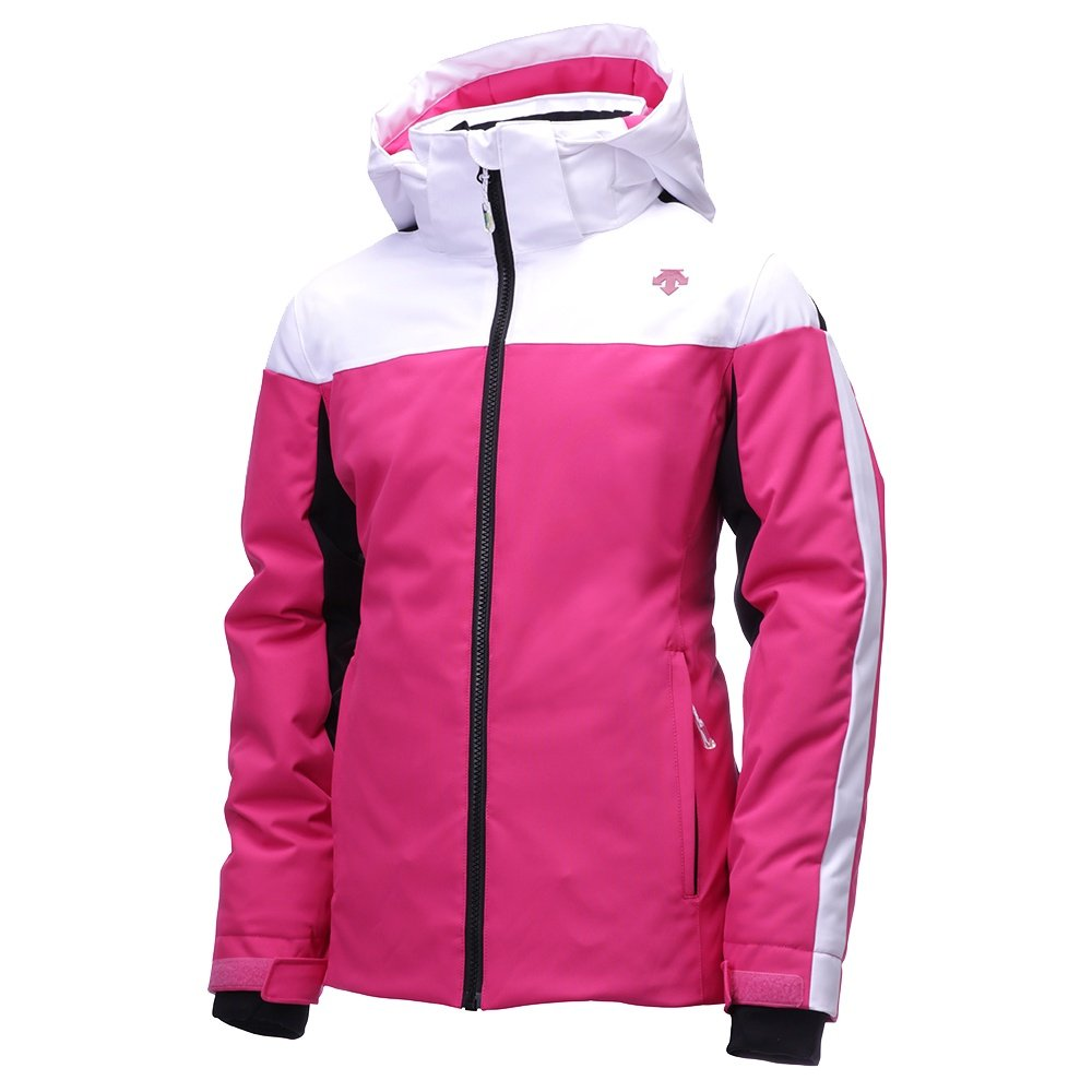 Descente Kiley Insulated Ski Jacket (Girls') - Pink/Super White/Black