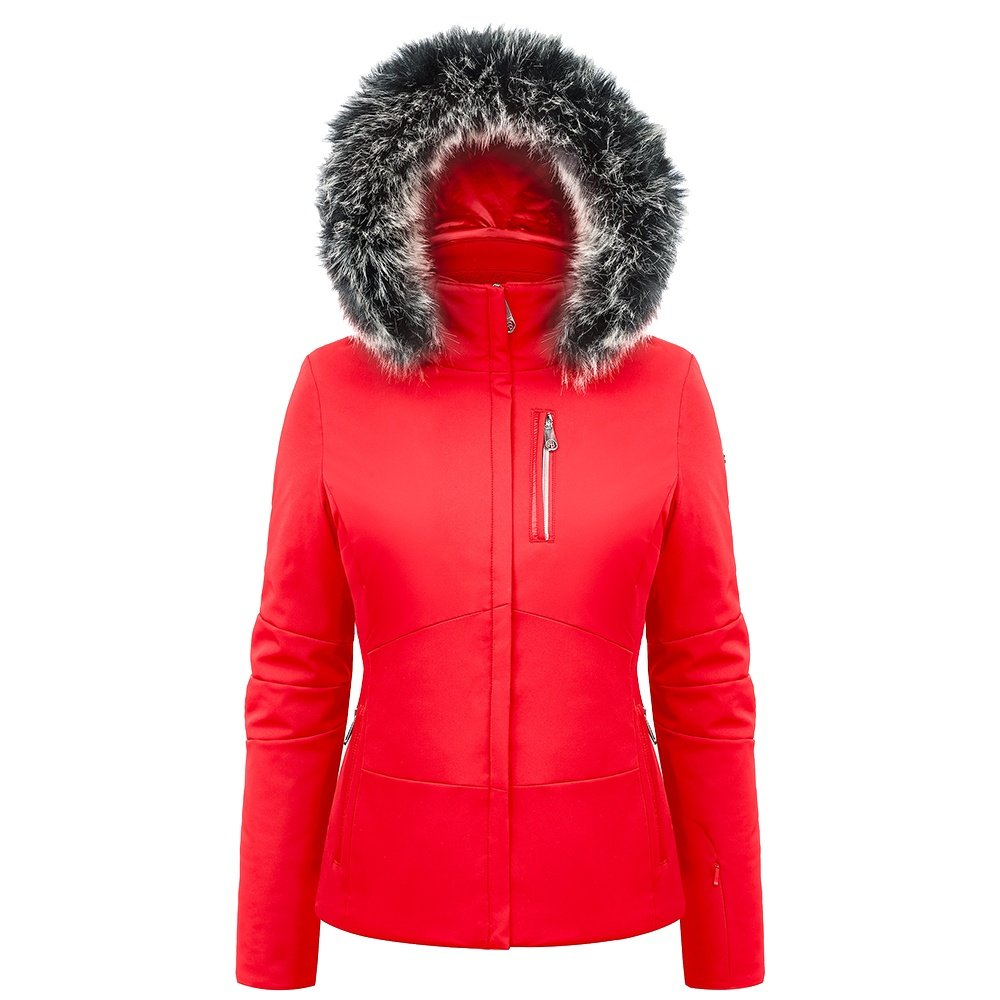 Poivre Blanc Diana Insulated Ski Jacket with Faux Fur (Women's) - Scarlet Red