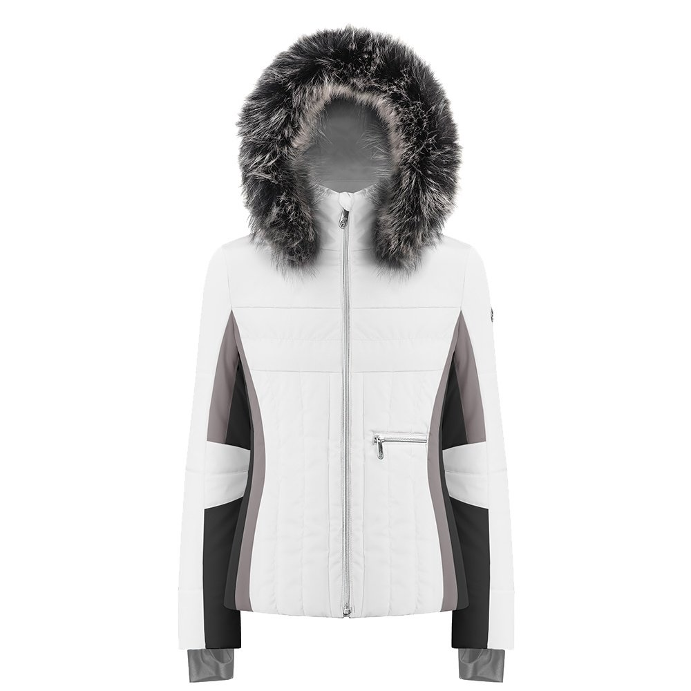 Poivre Blanc Meghan Insulated Ski Jacket with Faux Fur (Women's) - White/Multi