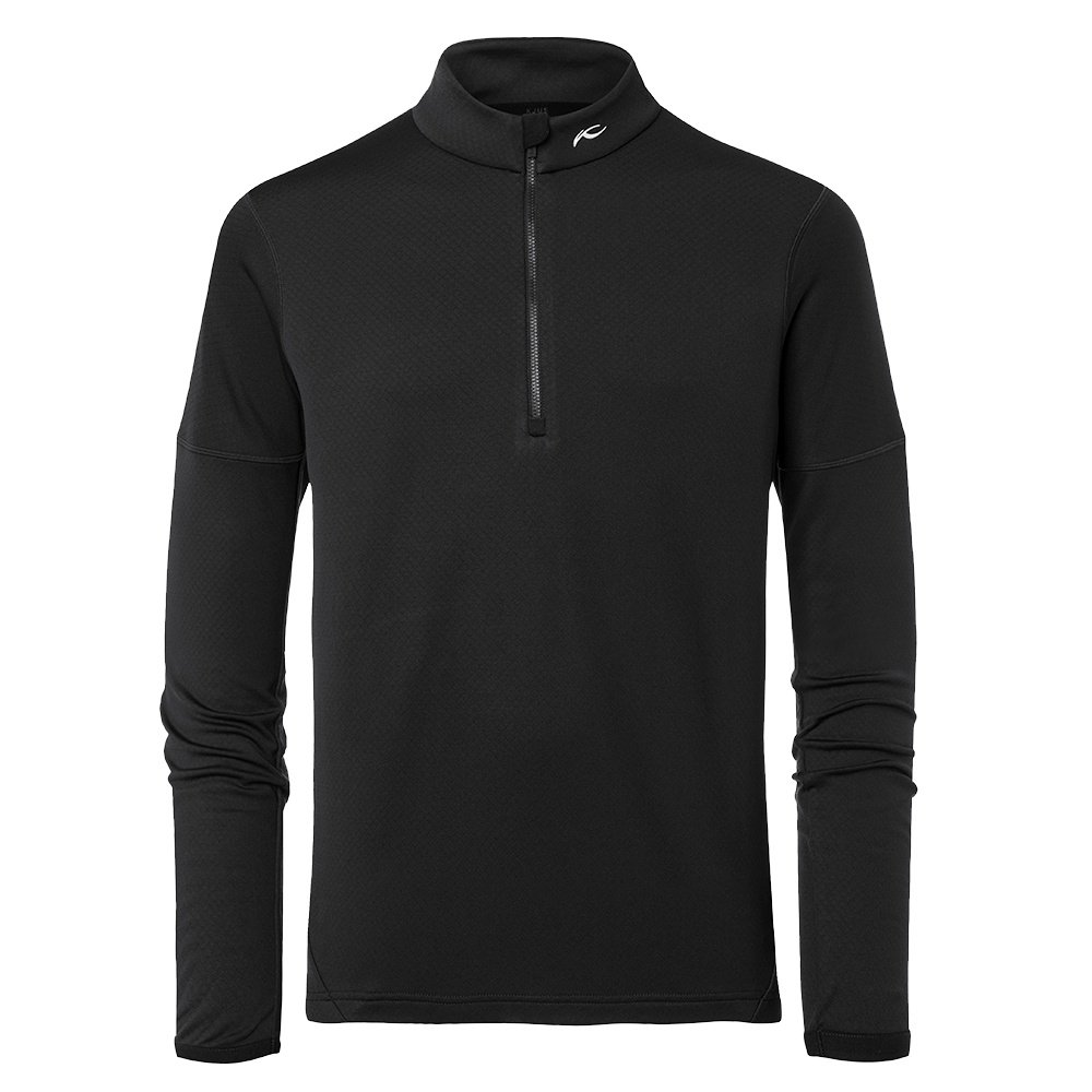 Kjus Diamond Fleece 1/2-Zip Mid-Layer (Men's) - Black