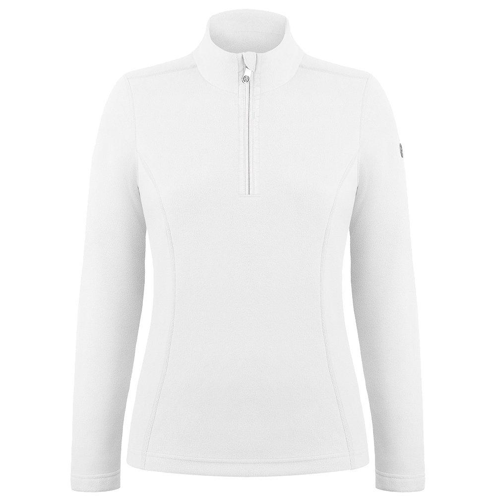 Poivre Blanc Micro Fleece 1/4-Zip Mid-Layer (Women's) - White