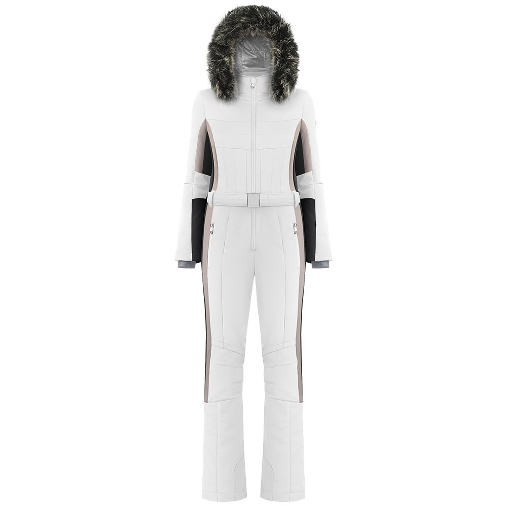 Poivre Blanc Countess Stretch Insulated Ski Suit with Faux Fur (Women's) - White/Multi