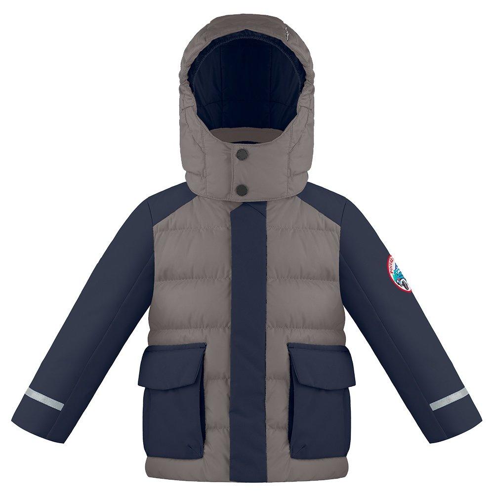 Poivre Blanc Mountain Down Ski Jacket (Little Boys') - Soba Brown/Gothic Blue