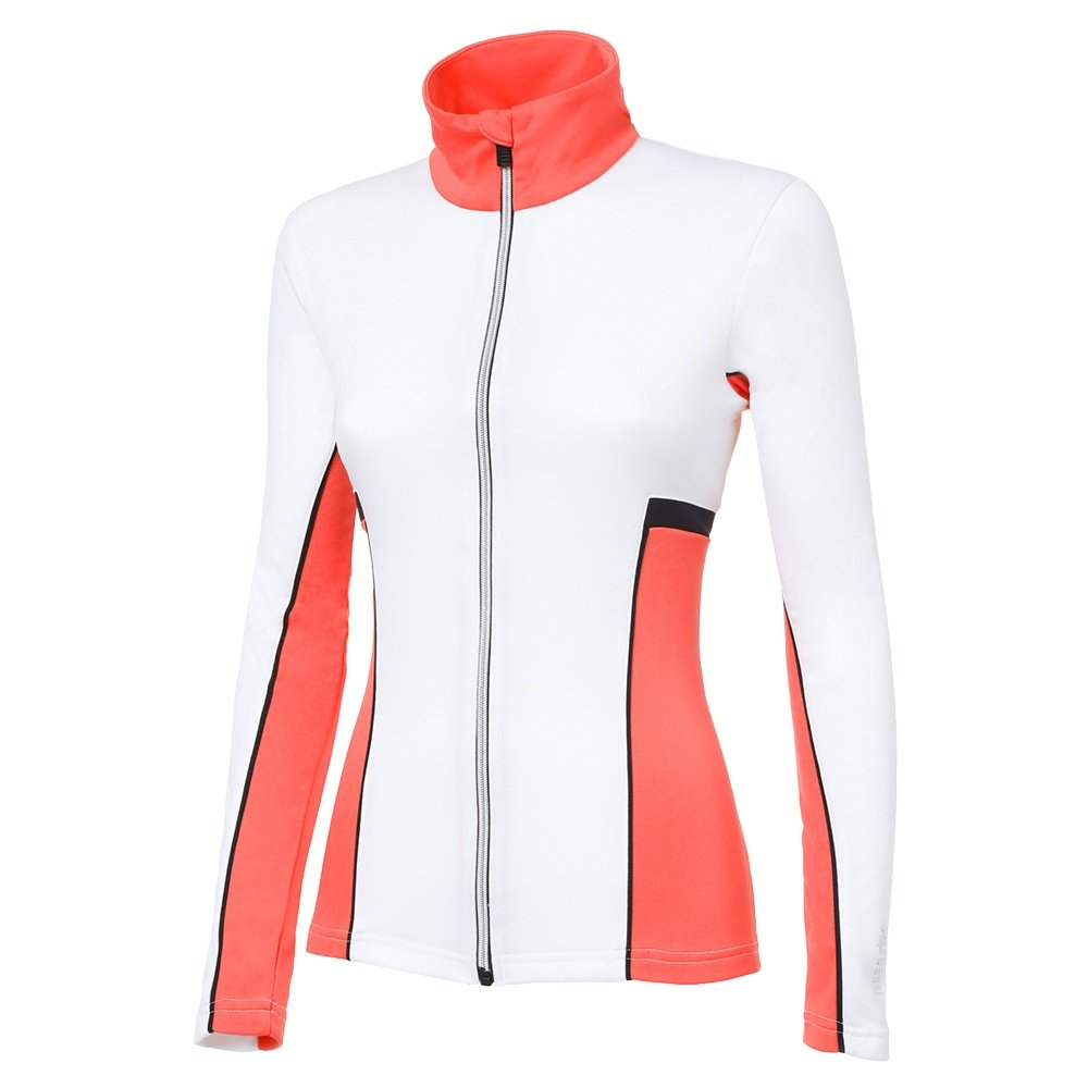 Rh+ Moos Jersey Full-Zip Sweater (Women's) - White/Nectarine/Black
