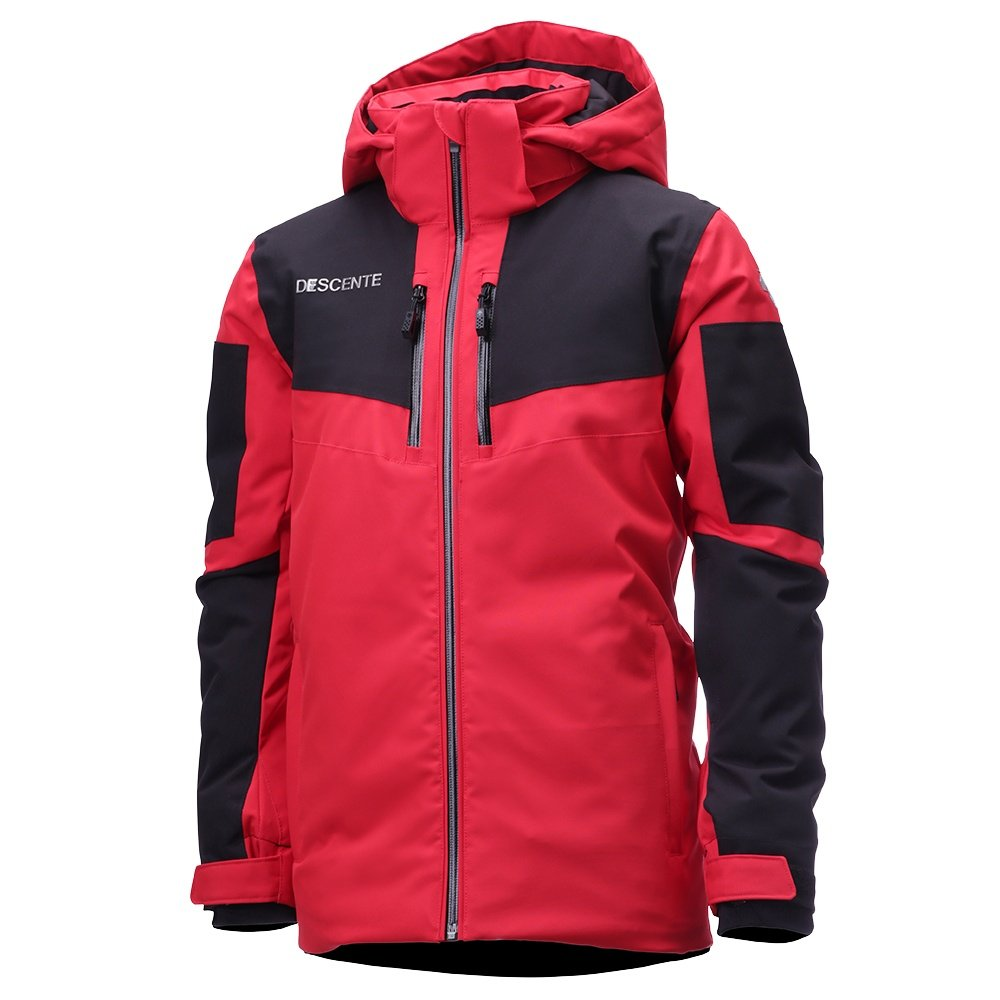 Descente Swiss Ski Team Jr. Insulated Ski Jacket (Boys') - Electric Red