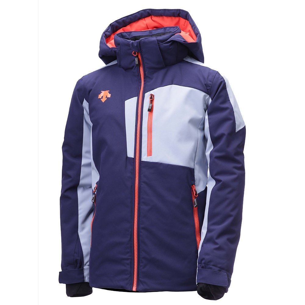 Descente Kai Insulated Ski Jacket (Boys') - Dark Knight/Titanium/Orange