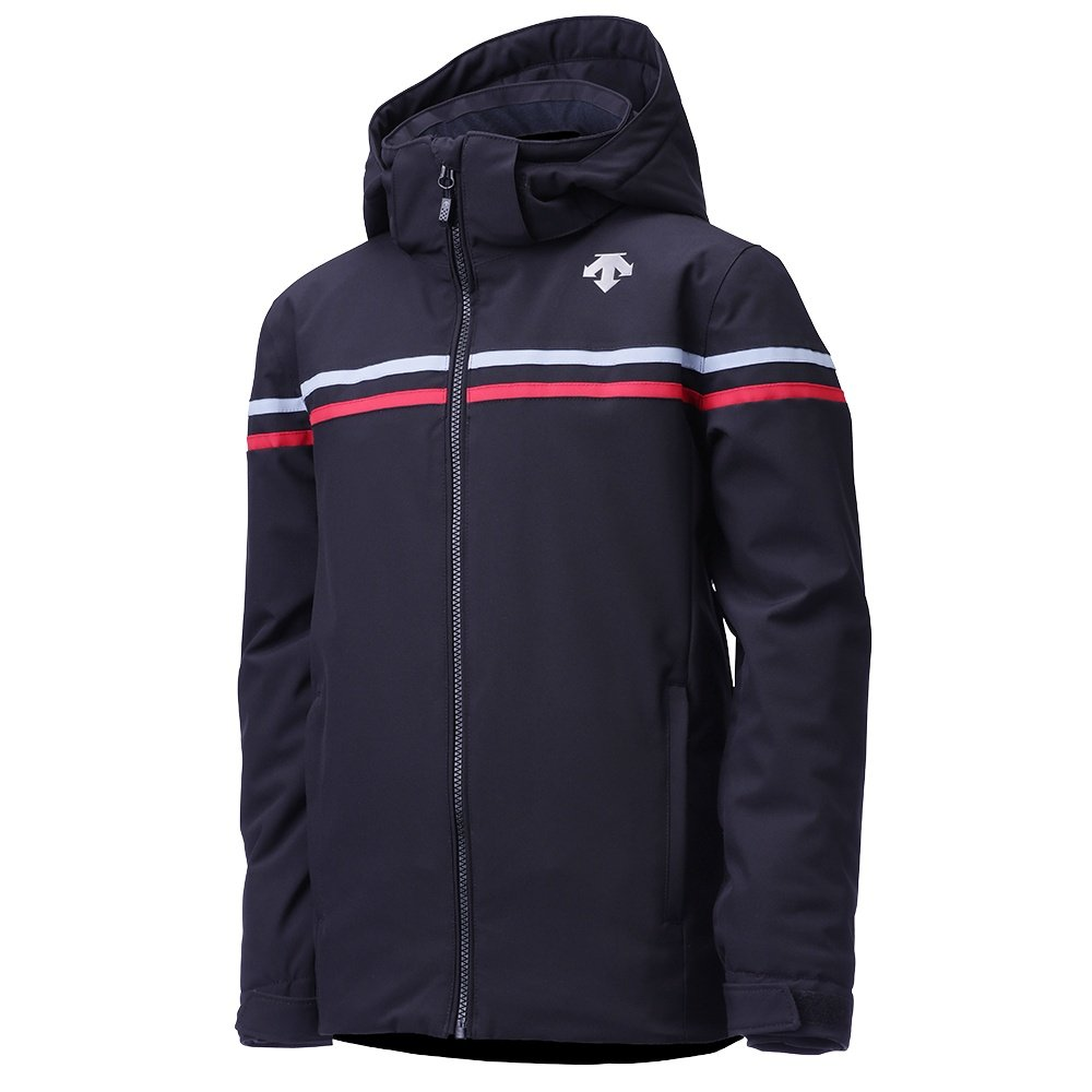 Descente Cruz Insulated Ski Jacket (Boys') - Black/Titanium/Electric Red