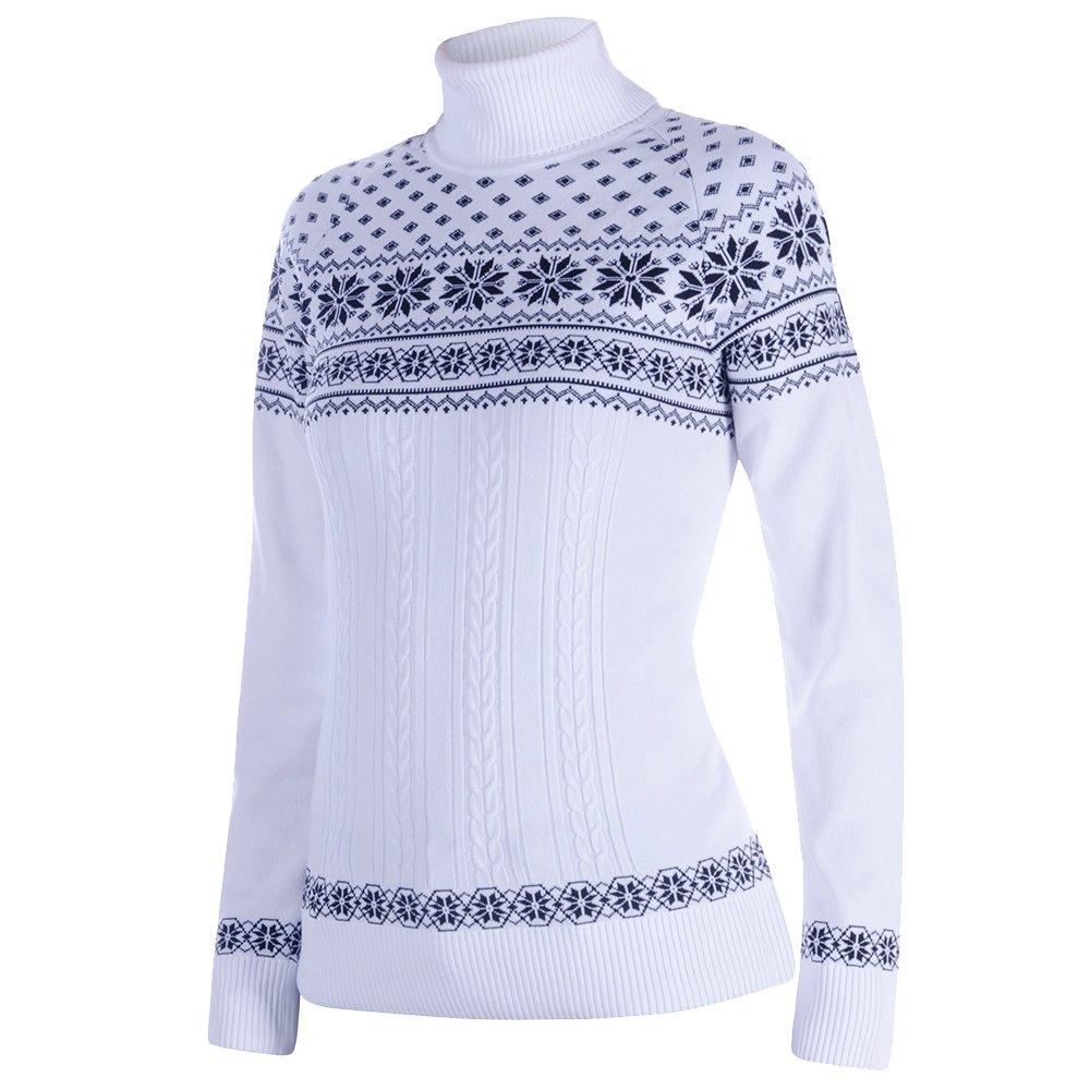 Newland Patty Knit Turtleneck Mid-Layer (Women's) - White/Black