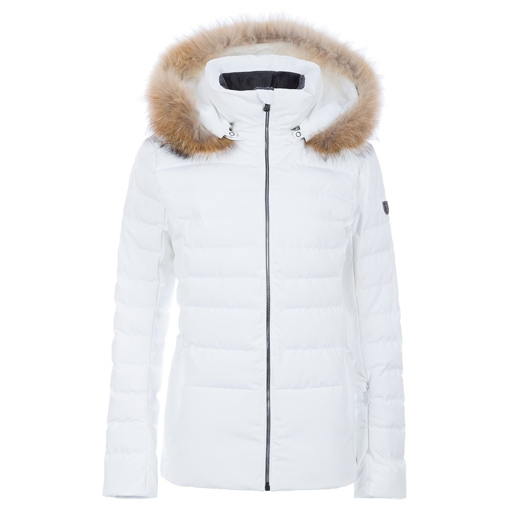 Fera Julia Down Ski Parka with Real Fur (Women's) - White Cloud