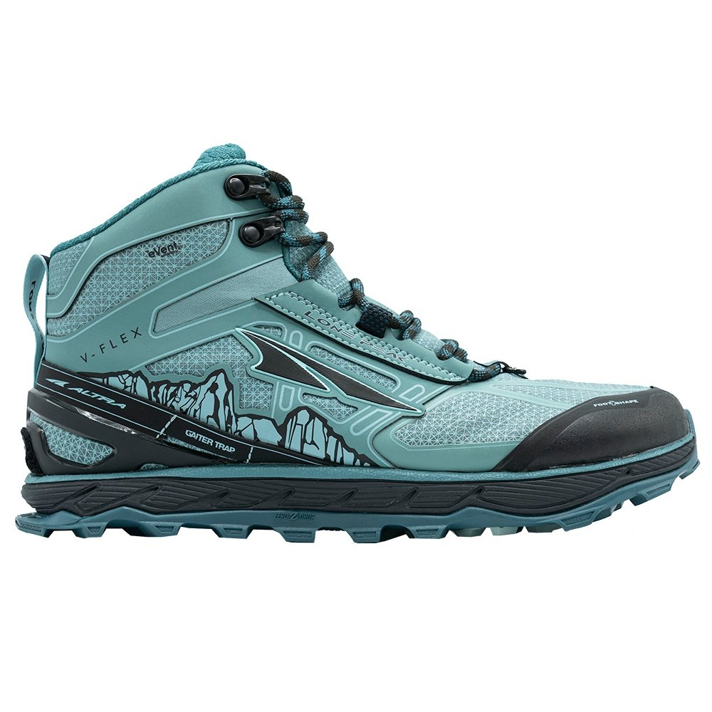 Altra Lone Peak 4 Mid RSM Trail Running Shoe (Women's) - Mineral Blue