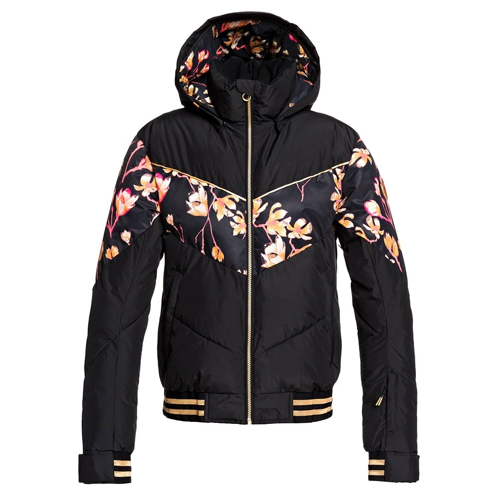 Roxy Torah Bright Summit Insulated Snowboard Jacket (Women's) - True Black Magnolia