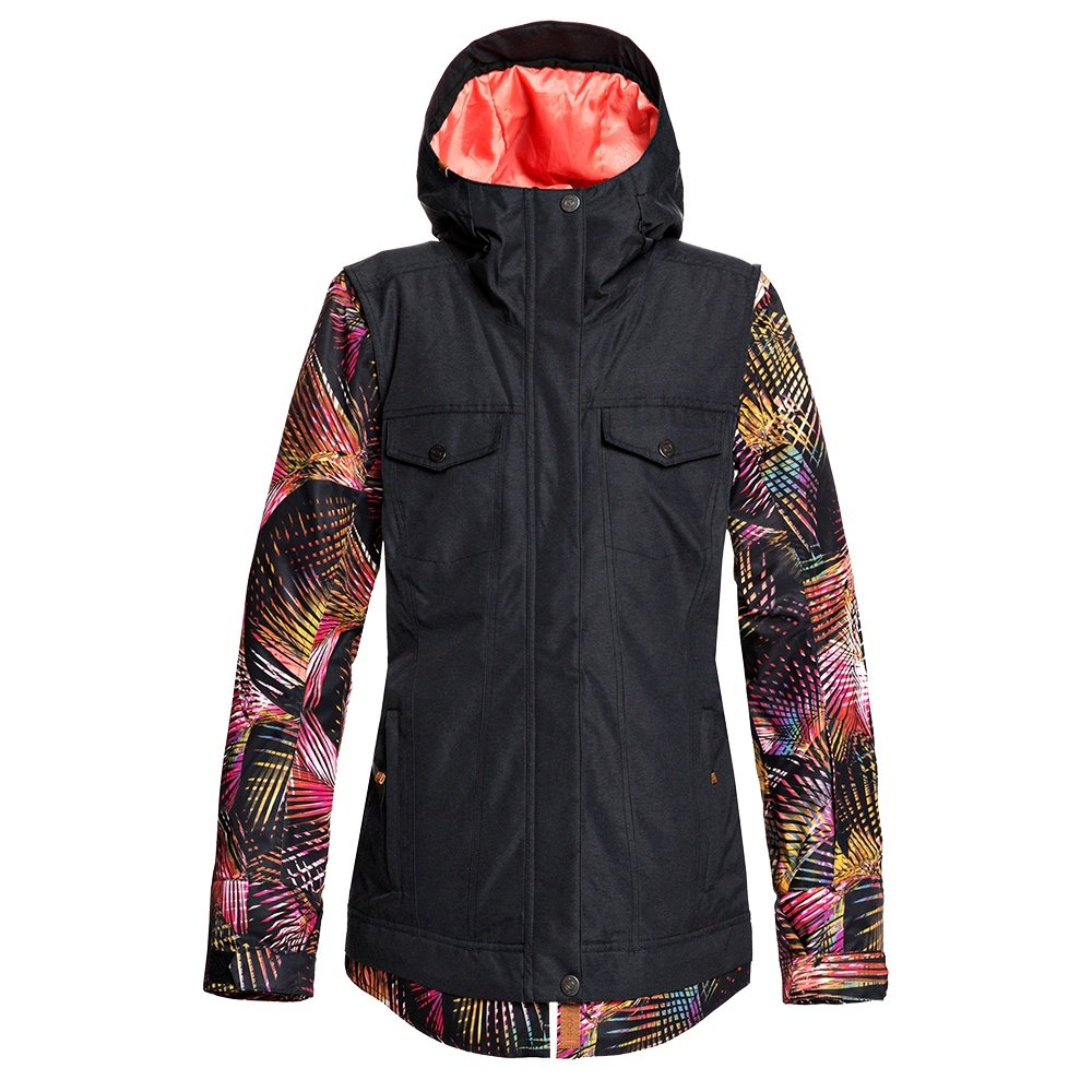 Roxy Cedar Insulated Snowboard Jacket (Women's) - True Black Night Palm