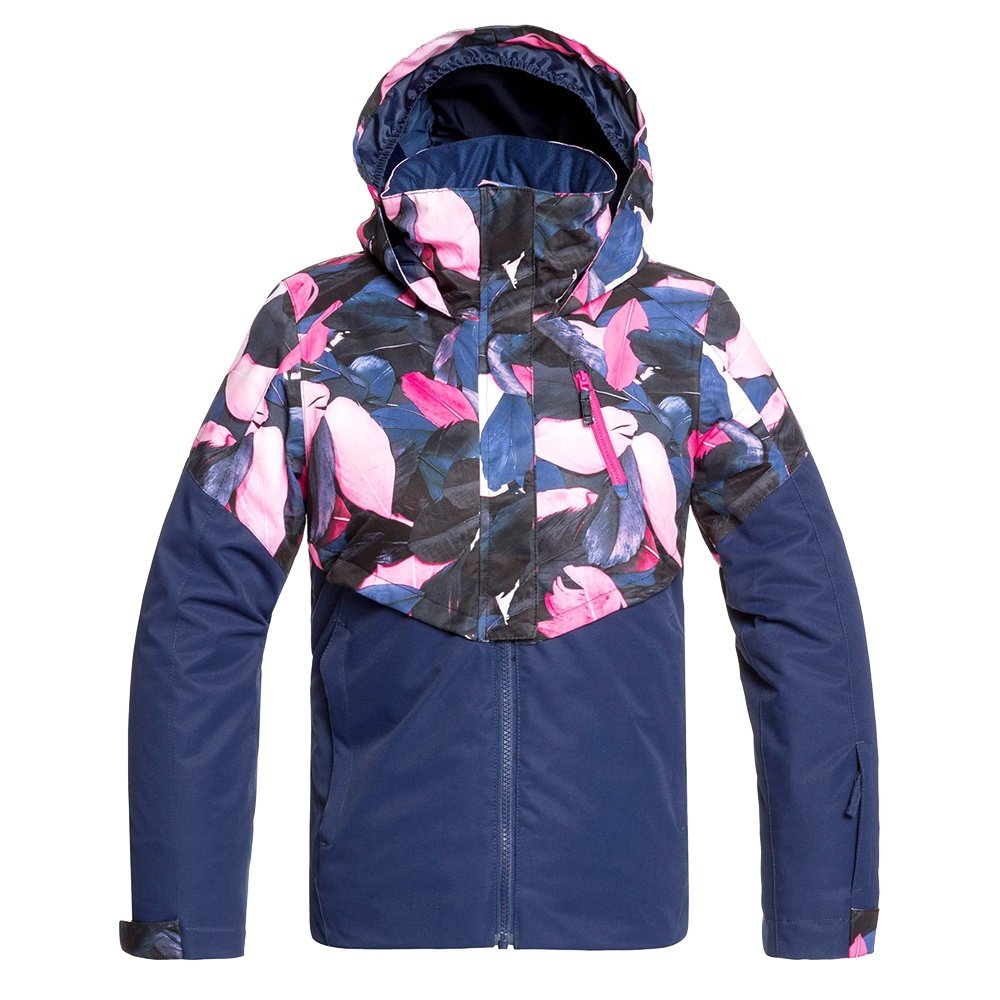 Roxy Frozen Flow Insulated Snowboard Jacket (Girls') - Medieval Blue Plumes