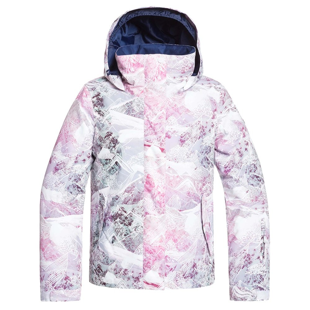 Roxy Jetty Girl Insulated Snowboard Jacket (Girls') - Bright White Mysterious View