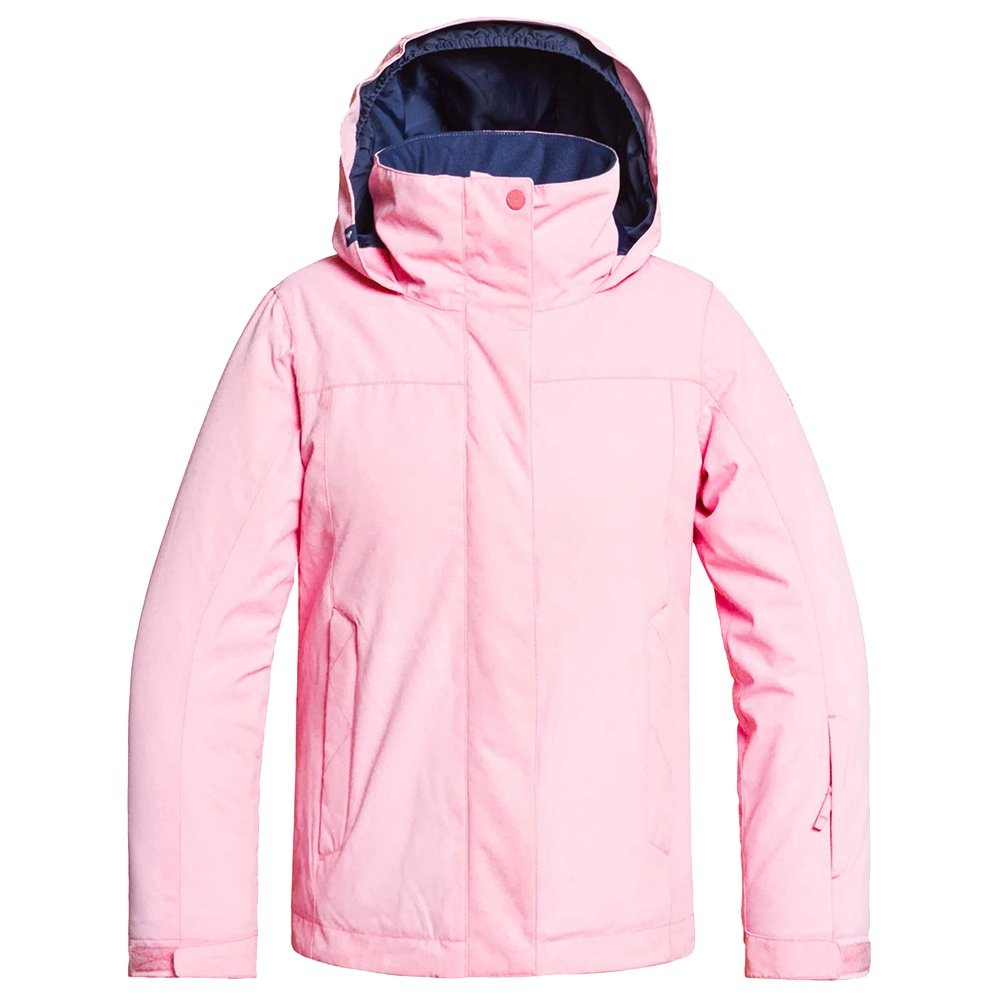 Roxy Jetty Girl Solid Insulated Snowboard Jacket (Girls') - Prism Pink