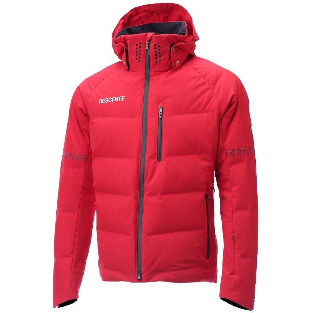 Descente Swiss Ski Team Down Ski Jacket (Men's) - Electric Red /Black
