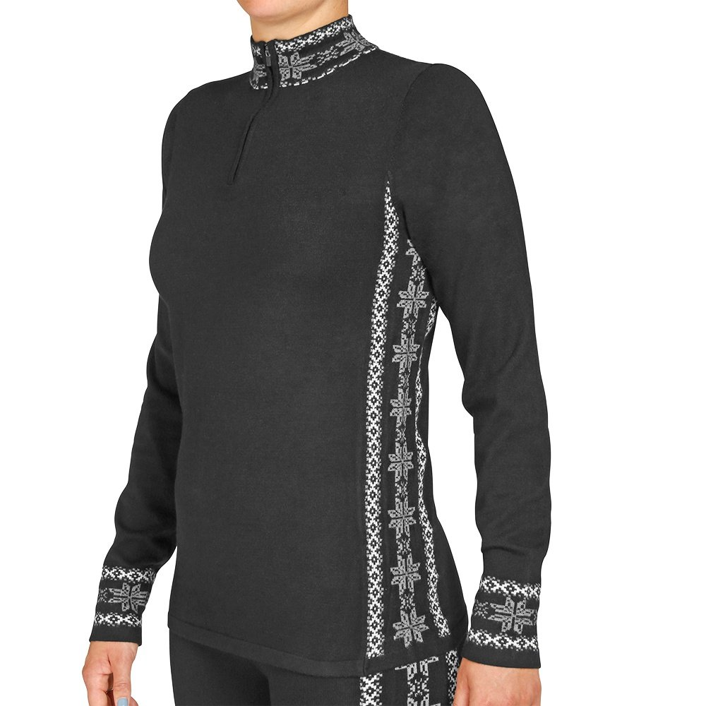 Hot Chillys Half-Zip Sweater Knit (Women's) - Sideline/Black
