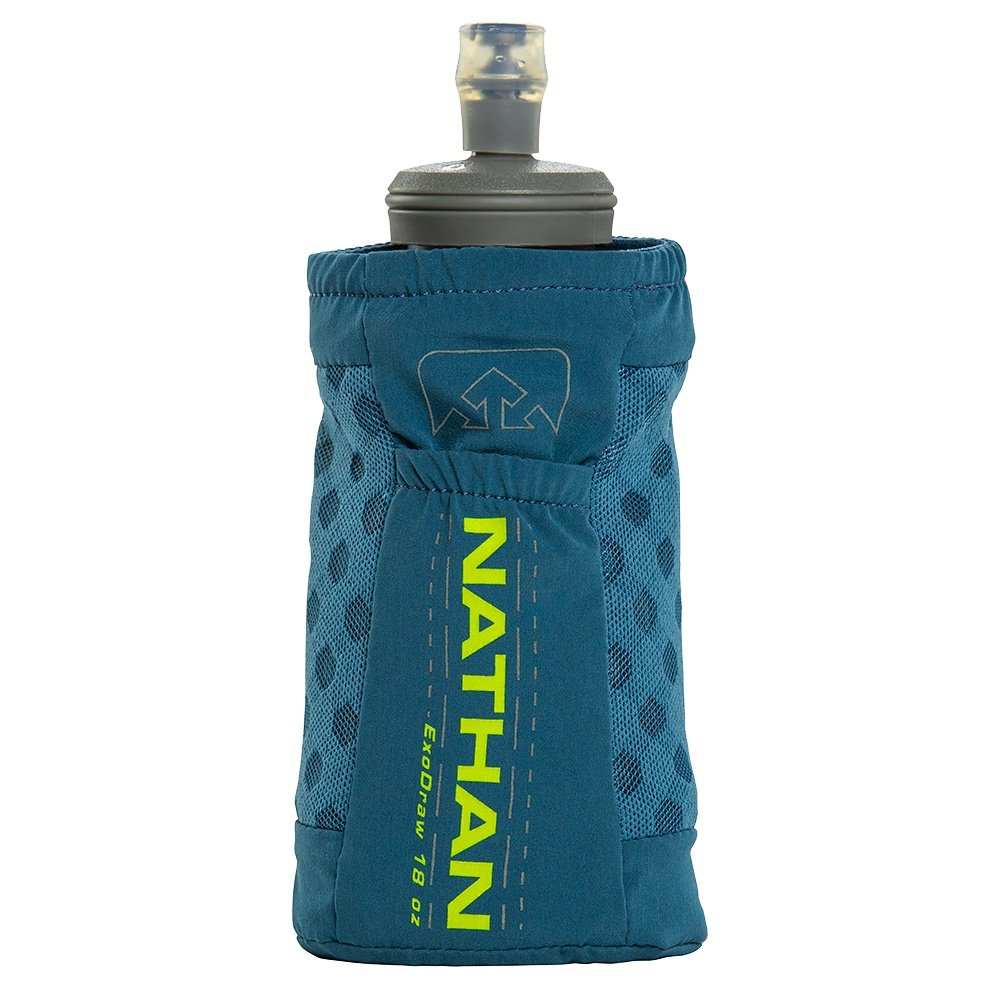 Nathan ExoDraw 2.0 18oz Soft Flask - Blue Mirage/Nuclear Yellow