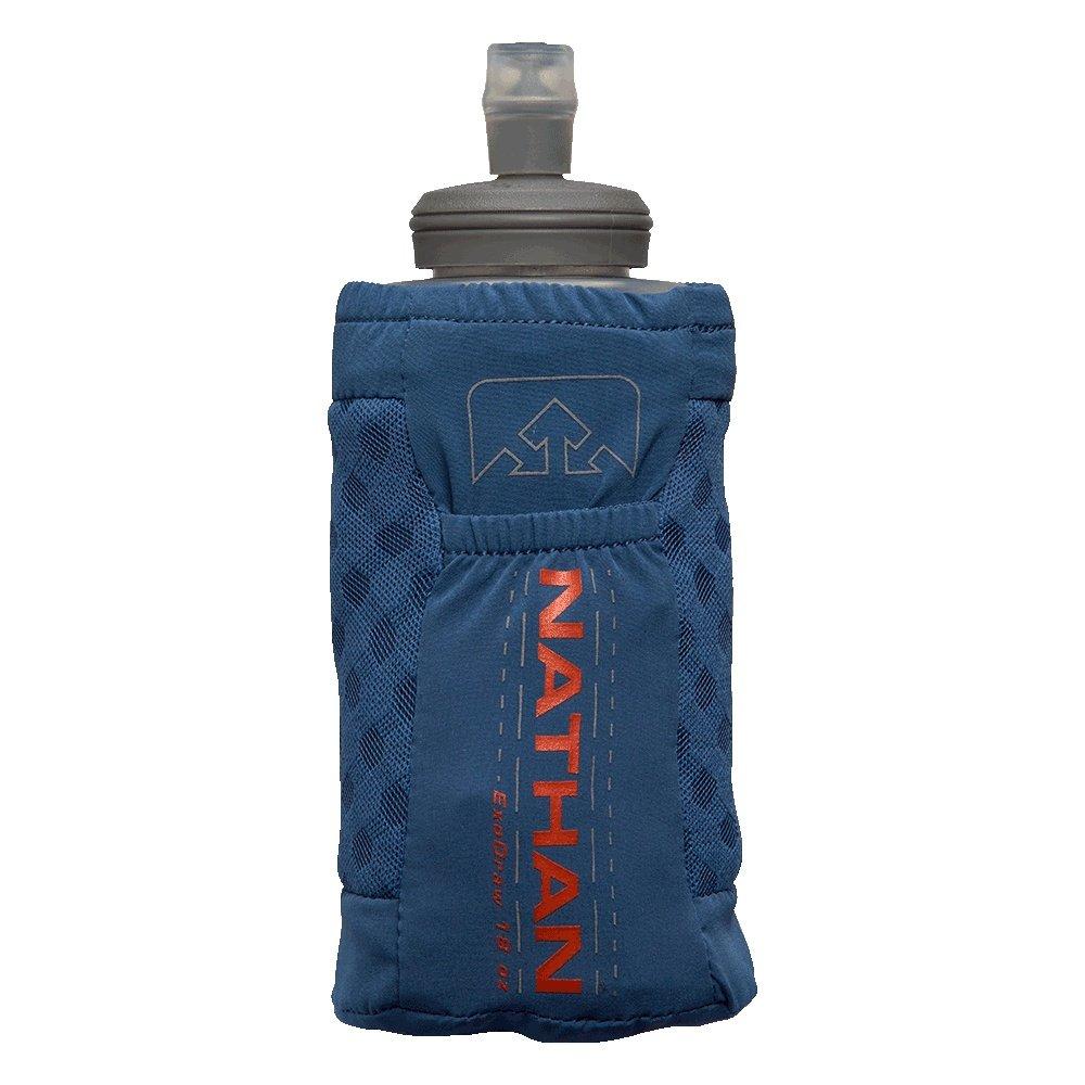 Nathan ExoDraw 2.0 18oz Soft Flask - True Navy/Tiger Lily
