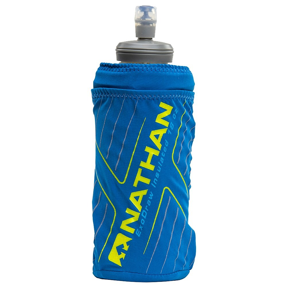Nathan ExoDraw 2.0 Insulated 18oz Soft Flask - Deep Water/Vibrant Yellow