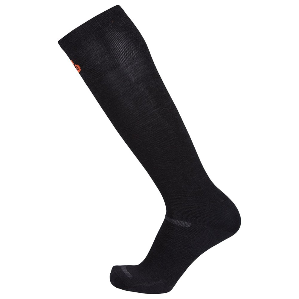 Point6 Vapor Ultralight Ski Sock 2 Pack (Adults') - Black