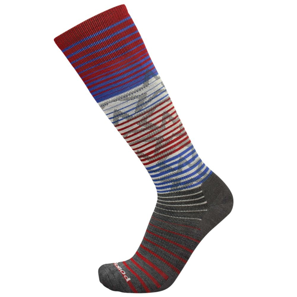 Point6 Ultralight Star Struck Ski Sock (Adults') - Gray