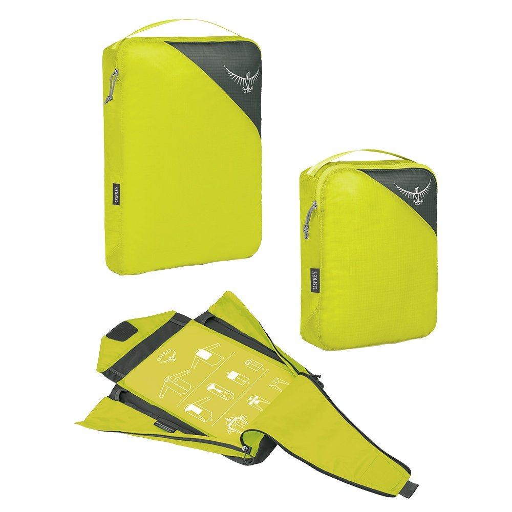 Osprey Ultralight Packing Cube Travel Set - Electric Lime