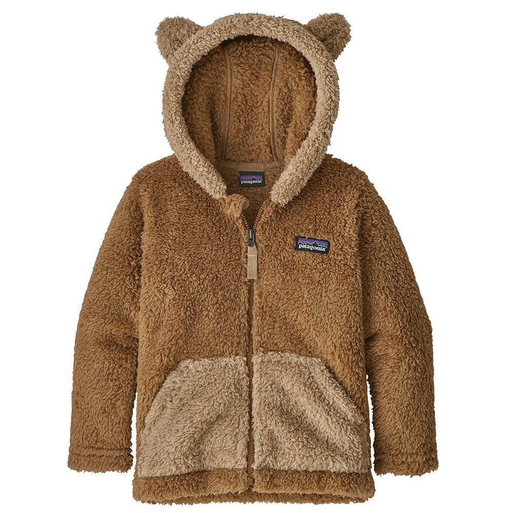 Patagonia Furry Friend Hoody Fleece Top (Little Kids') - Beech Brown