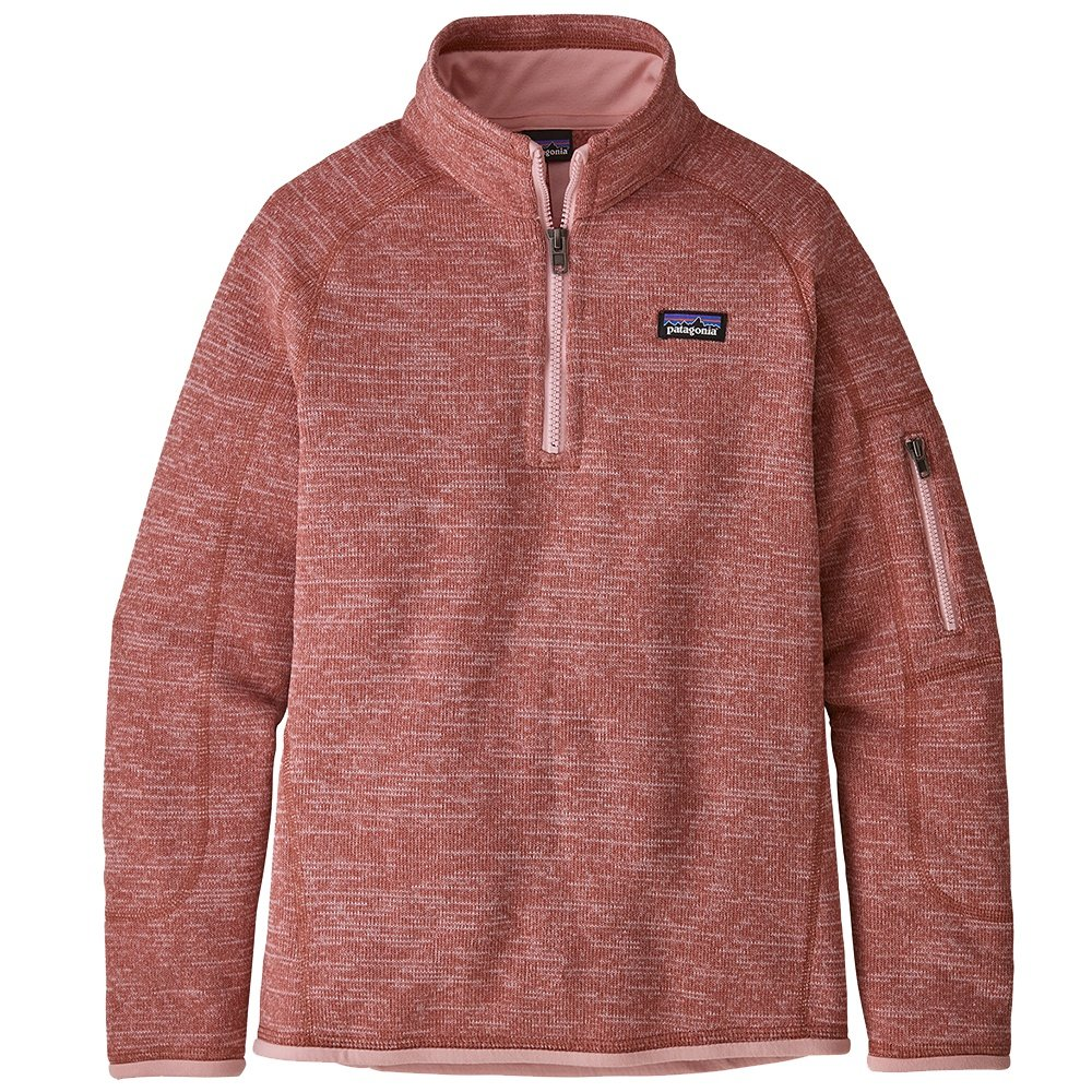 Patagonia Better Sweater 1/4-Zip Fleece Top (Girls') - Aurea Pink
