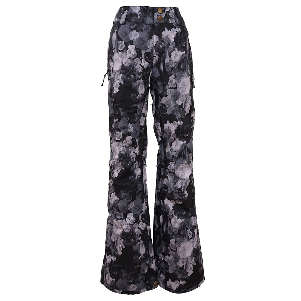 Pulse Statement Insulated Snowboard Pant (Women's) - Black Flower