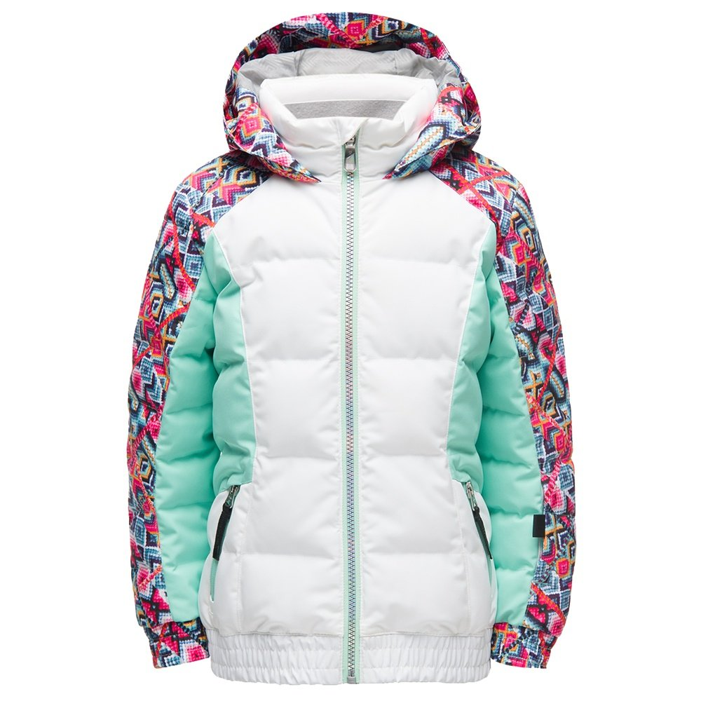 Spyder Atlas Synthetic Down Ski Jacket (Little Girls')  - White