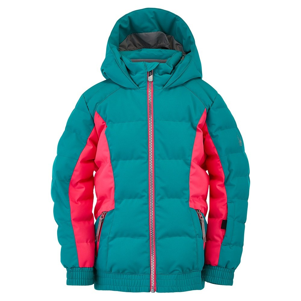 Spyder Atlas Synthetic Down Ski Jacket (Little Girls')  - Scuba