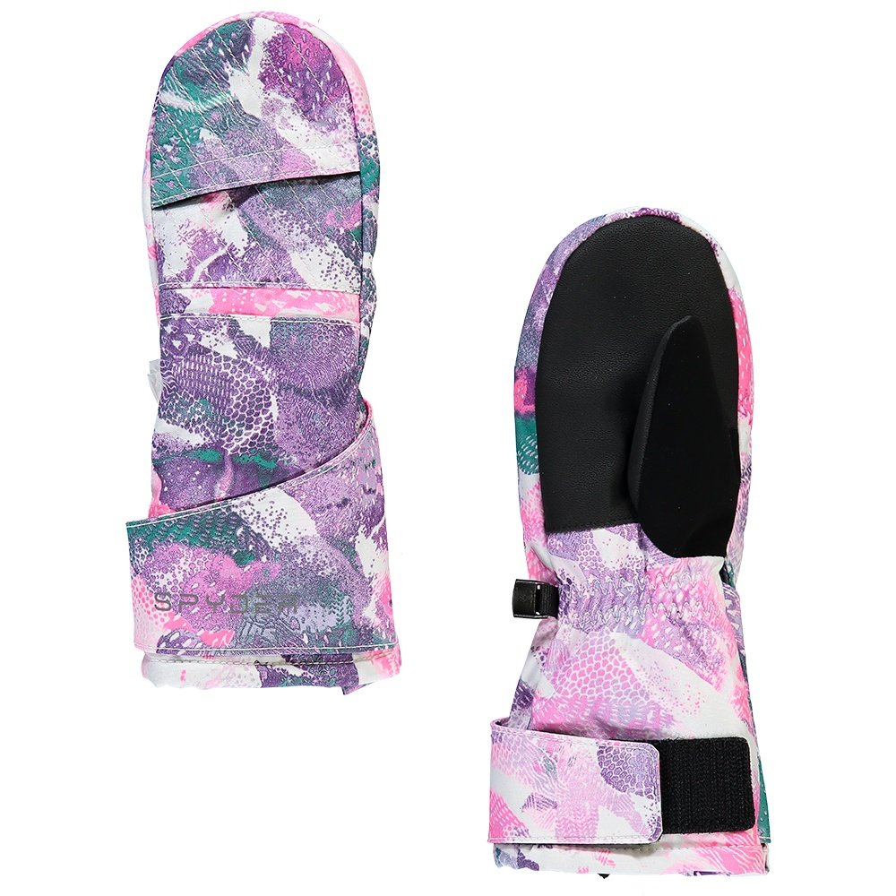 Spyder Cubby Ski Mitt (Little Girls') - Downhill Dots