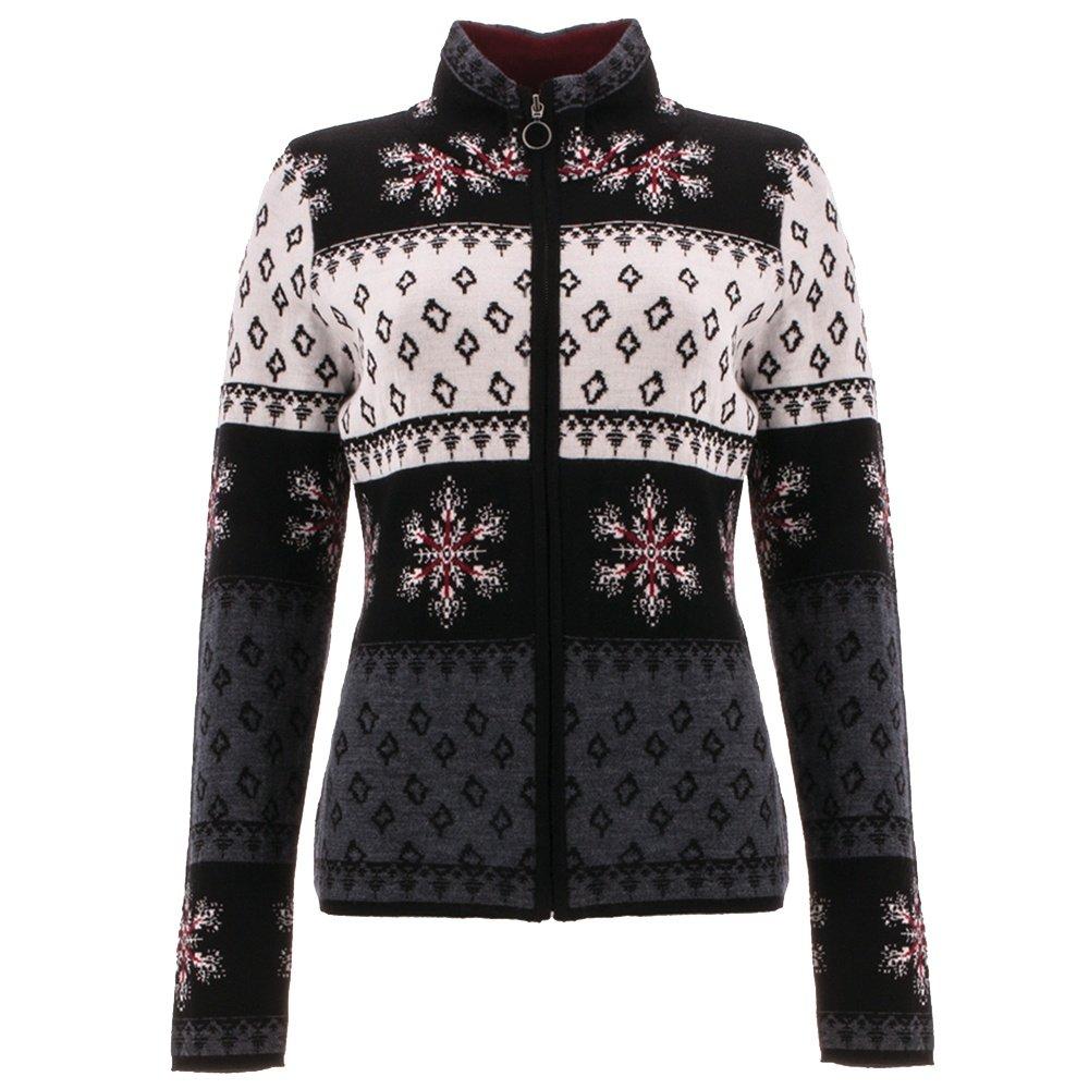 Icelandic Keaton Full Zip Sweater (Women's) - Black