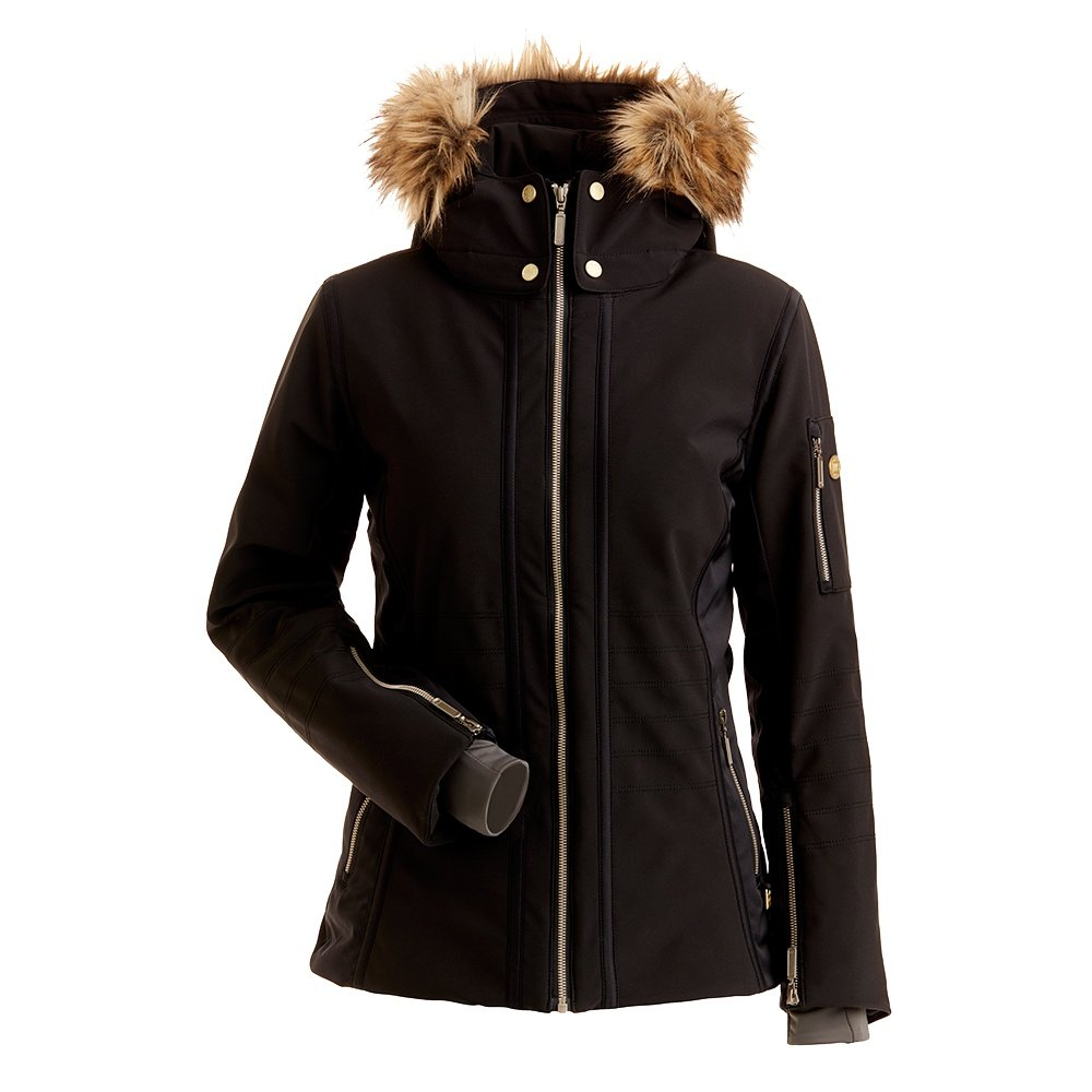 Nils Isabella Insulated Ski Jacket with Faux Fur (Women's) - Black