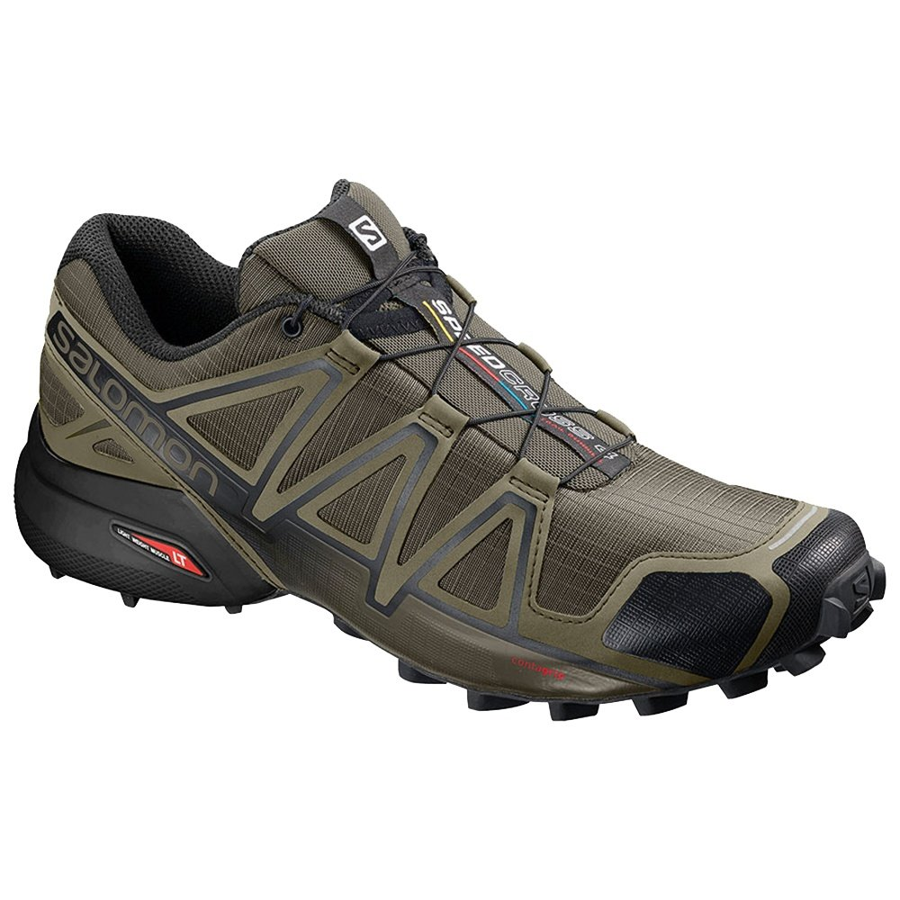Salomon Speedcross 4 Trail Running Shoe (Men's) - Grape Leaf/Burnt Olive/Black