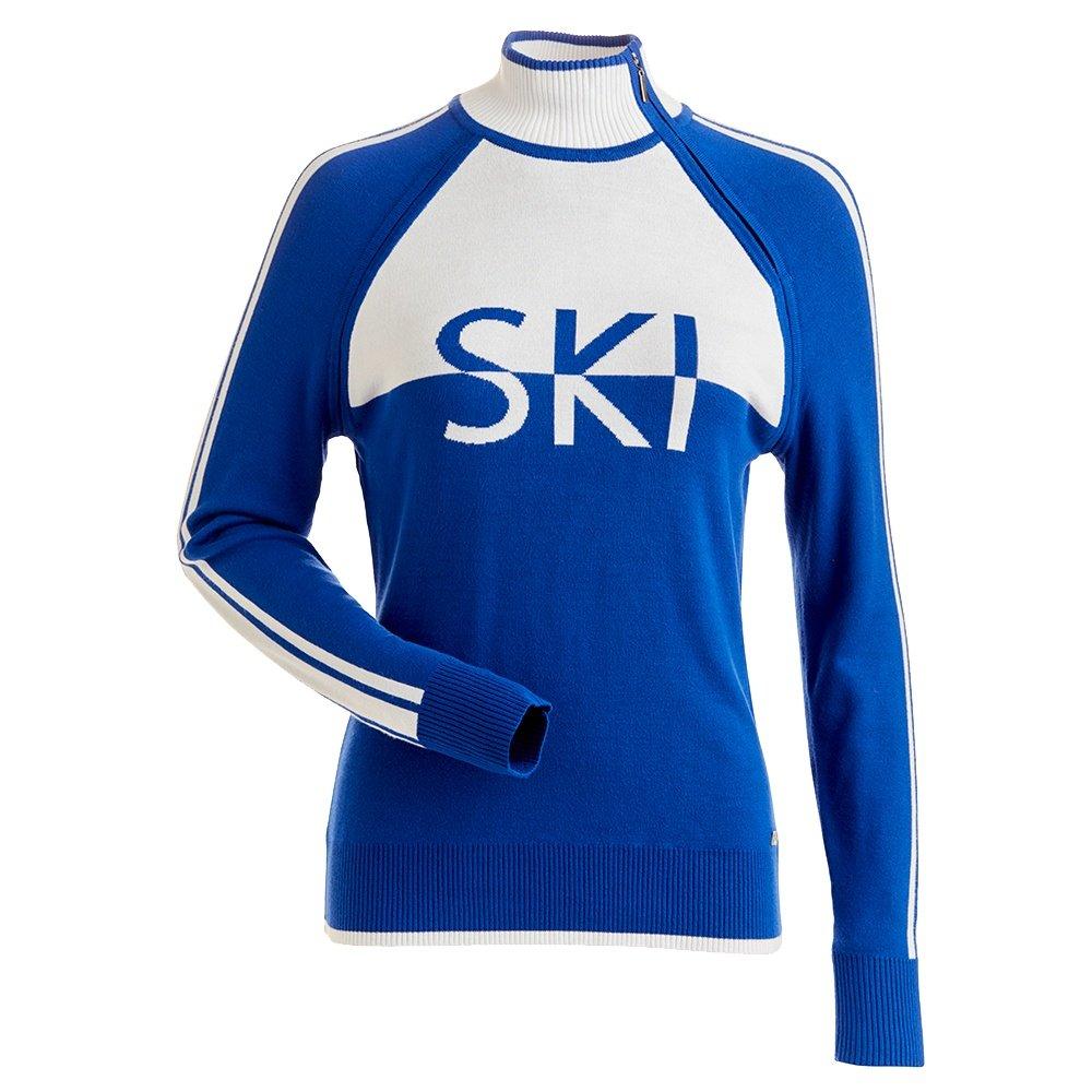 Nils Ski Turtleneck Sweater (Women's) - Lapis/White