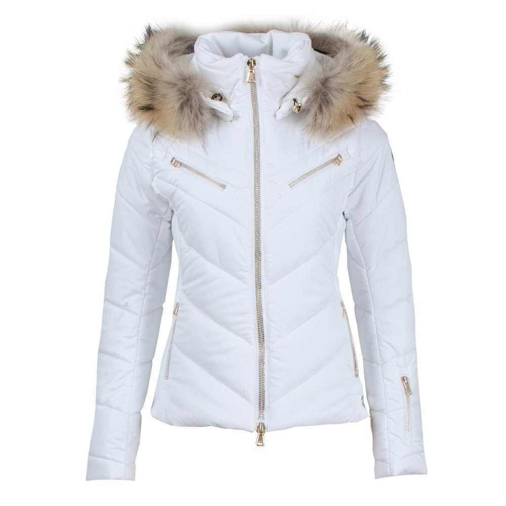 MDC Victoria Insulated Ski Jacket with Real Fur (Women's) - White