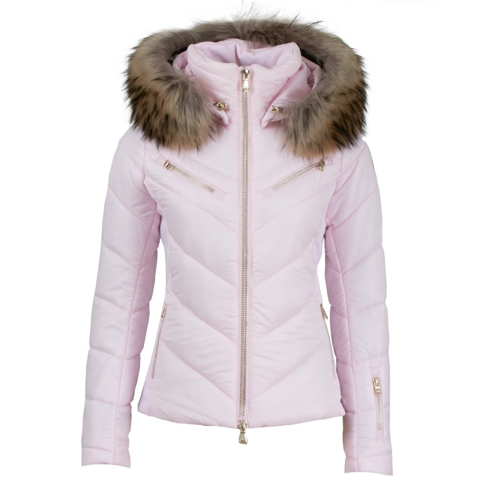 MDC Alexis Insulated Ski Jacket with Real Fur (Women's) - Macaron