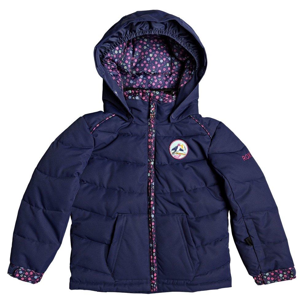 Roxy Anna Insulated Snowboard Jacket (Little Girls') - Medieval Blue