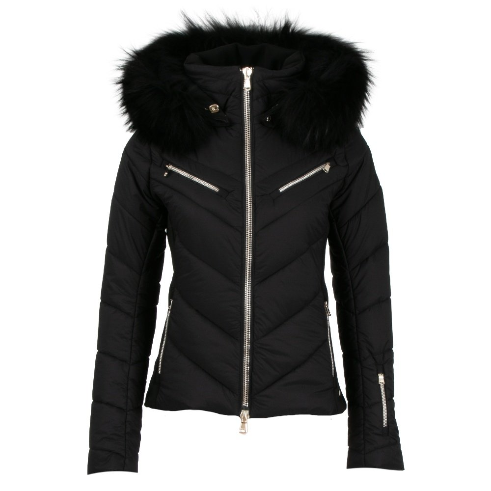 MDC Lyanna Insulated Ski Jacket with Real Fur (Women's) - Black