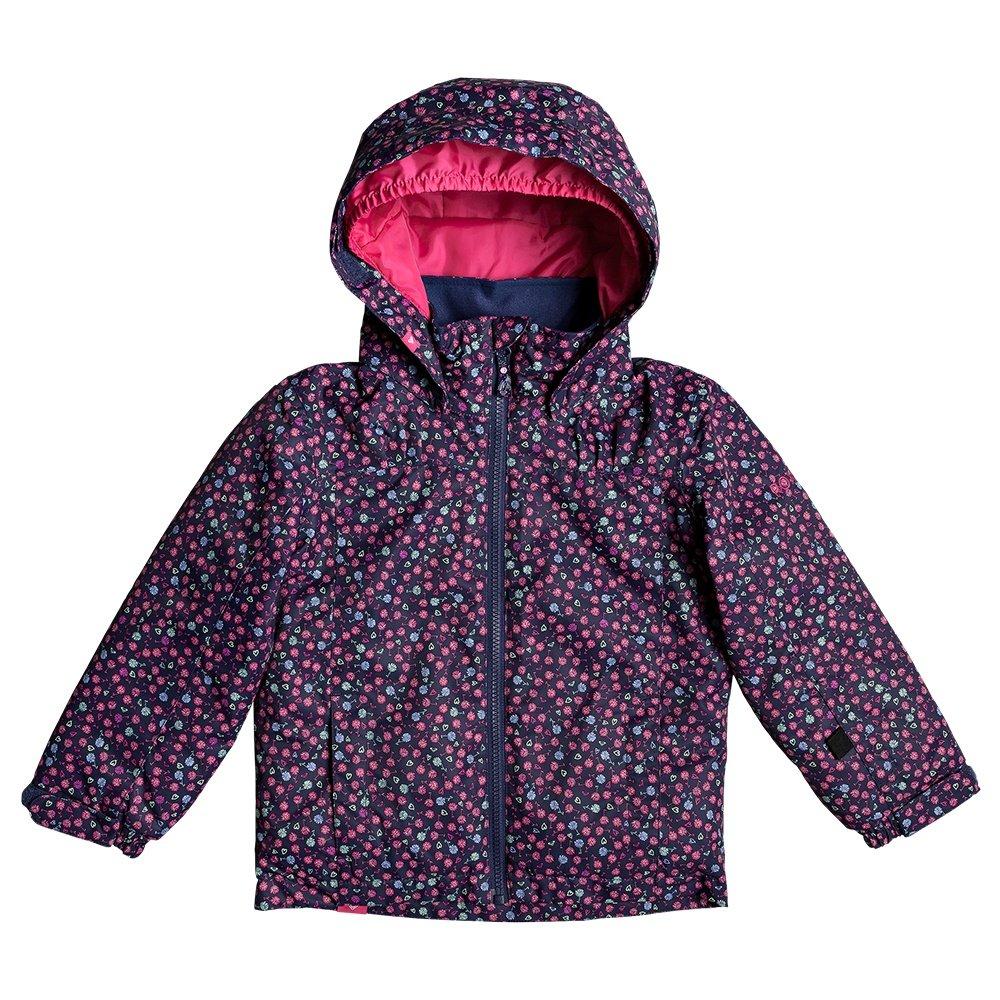 Roxy Mini Jetty Insulated Snowboard Jacket (Little Girls') - Medieval Blue Sweet Marguerite