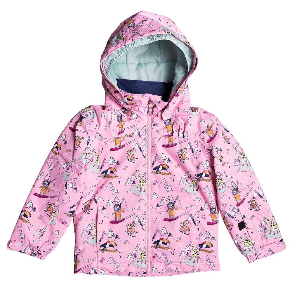 Roxy Mini Jetty Insulated Snowboard Jacket (Little Girls') - Prism Pink Snow Trip