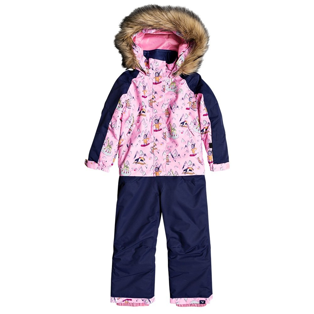 Roxy Paradise Insulated Ski Suit (Little Girls') - Prism Pink Snow Trip