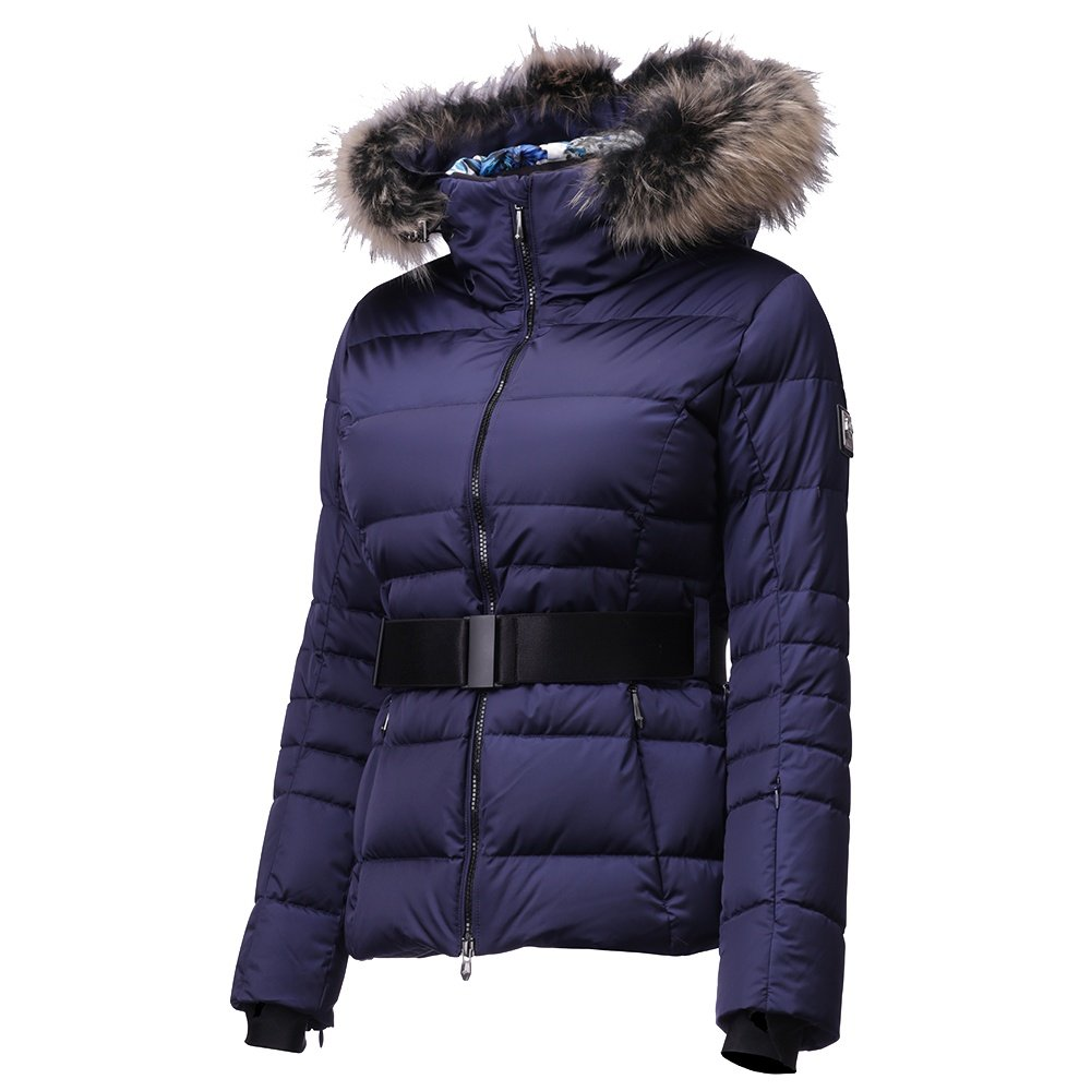Descente Misaki Down Ski Jacket with Real Fur (Women's) - Dark Night